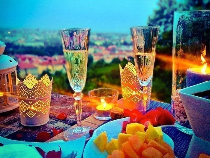 romantic dinner in Prague