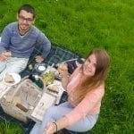 romantic picnic in Prague