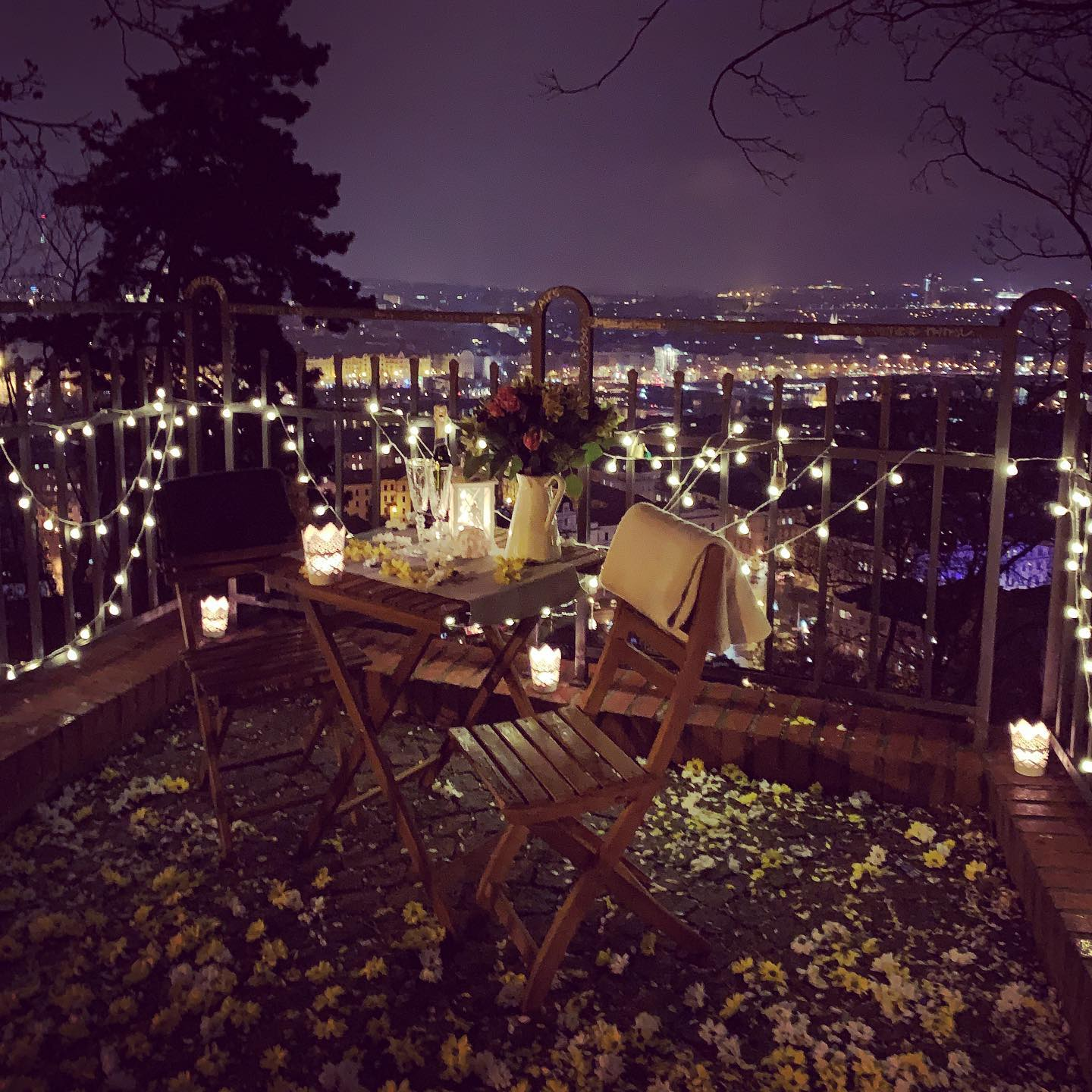 Romantic evening in Prague
